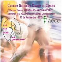 Carrera Solidaria contra el cáncer el 13 de septiembre en Badajoz
