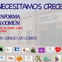 """La Plataforma """"Bien Común"""" de Badajoz se concentra el 26 de enero en el antiguo Ifeba"""