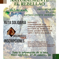 Naturalmente Badajoz organiza una ruta solidaria el 3 de febreo en el Rebellao para presentar su empresa