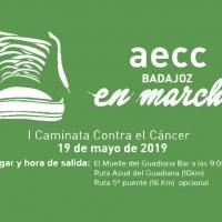 """""""AECC en marcha"""", I Caminata contra el cáncer en Badajoz"""